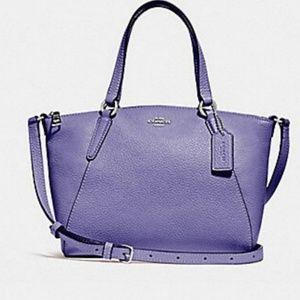 Coach Mini Kelsey Leather Satchel Light Purple NWT